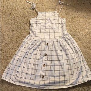 ASOS Design Button Through Check Mini Sun Dress